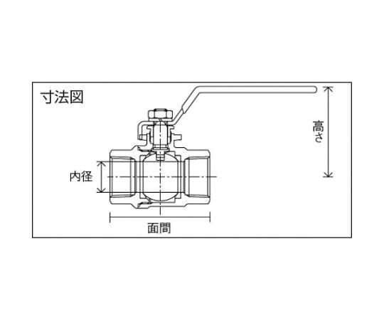 ステンレス製3.92MPaフルボアタイプボール弁 呼び径(A):15×呼び径(B):1/2 UBVNF14DR