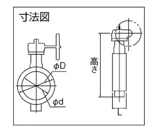 JIS・ISO面間適合汎用バルブ 呼び径(A):200×呼び径(B):8 700G2U200SN
