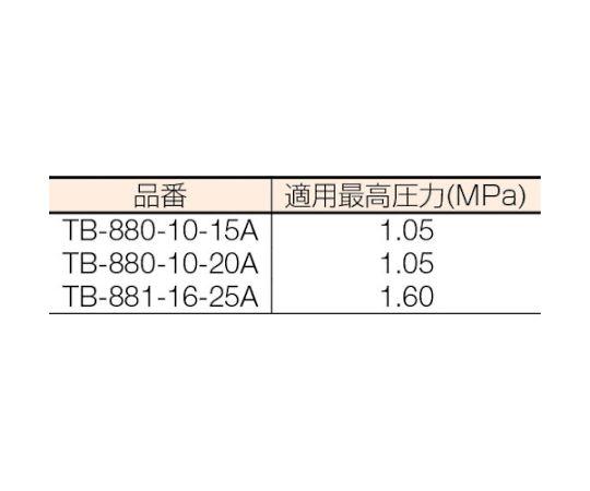 逆バケット式 スチームトラップ 呼び径(A):15×呼び径(B):1/2 TB8801015A
