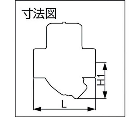 ディスク式スチームトラップ 呼び径(A):20×呼び径(B):3/4 TD10NA20A