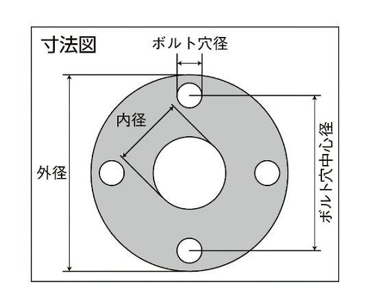 蒸気用高密度膨張黒鉛ガスケット 8851ND3.0FF10K20A