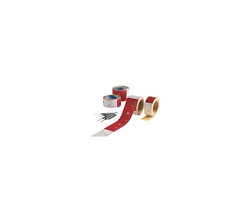 テープロッド 75w×25M赤白20 ピッチ AR065