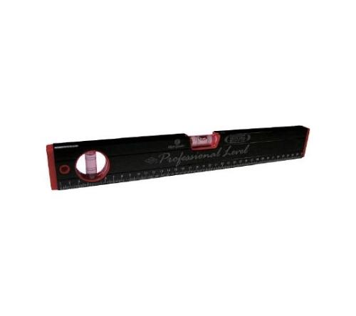 マグネット付 箱型アルミレベル(黒×赤) RB270M230MM