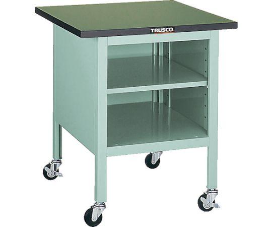 OWC型小型作業台 棚板付 900X750 キャスター付 OWC-9075B