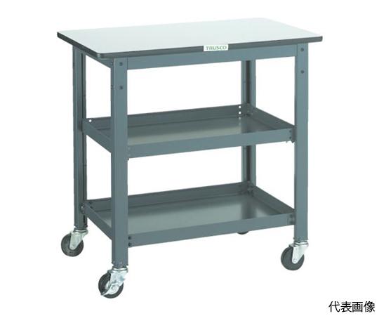 WHT型作業台補助テーブルワゴン 600X600XH740 WHT-6060