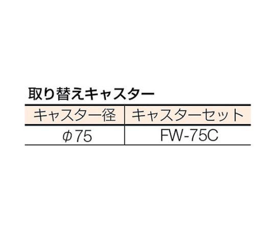 WHT型作業台補助テーブルワゴン 750X600XH740 WHT-6075