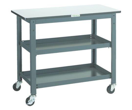 WHT型作業台補助テーブルワゴン 900X450XH740 WHT-4590