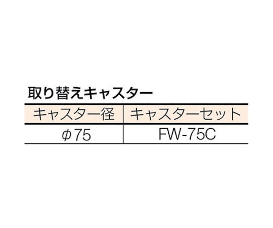 WHT型作業台補助テーブルワゴン 750X450XH900 WHT-4575H