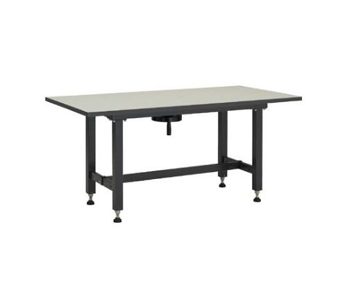 ハンドル昇降式作業台(メラミン樹脂天板)