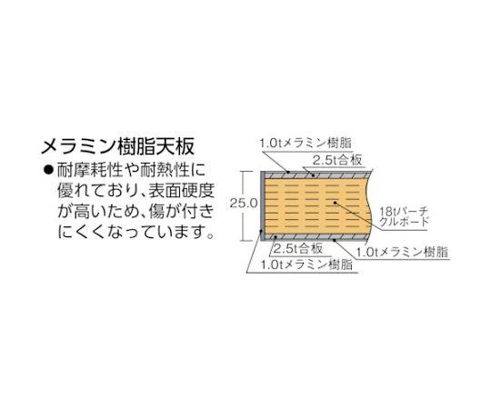ハンドル昇降式作業台 1800X750XH700-900 TKSS-1875H