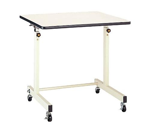 [取扱停止]ポールチャック式補助デスク 木製テーブル 移動式 750×600mm CS750M1