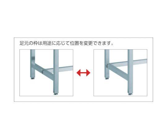SW3型オールステンレス作業台 Φ100導電SUS金具車輪付 SW3-1575CD100