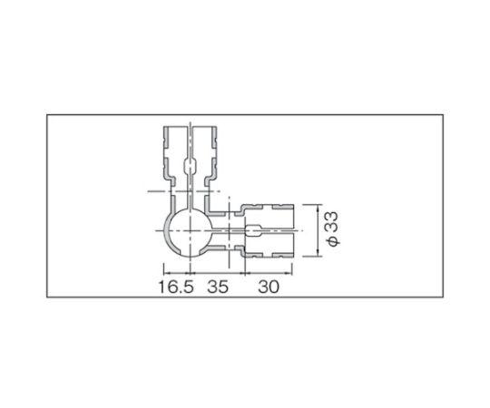 メタルジョイントNSJー2(4方向ジョイント) NSJ-2