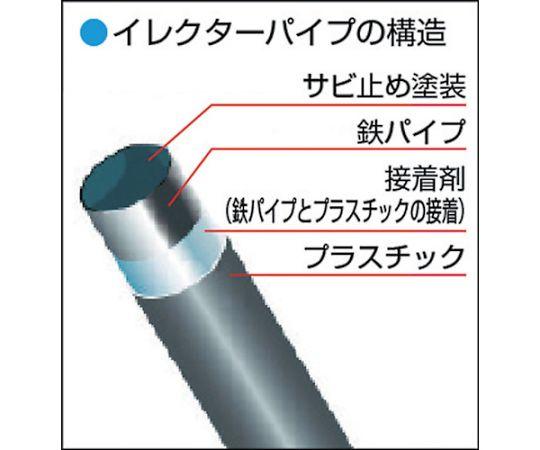 [取扱停止]カラー導電イレクターパイプ 3000mm HGA-3000ABSEGR
