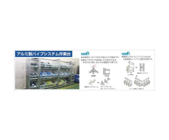 セル生産作業台 棚板・作業ボードあり 照明60Hz GFTR2880012