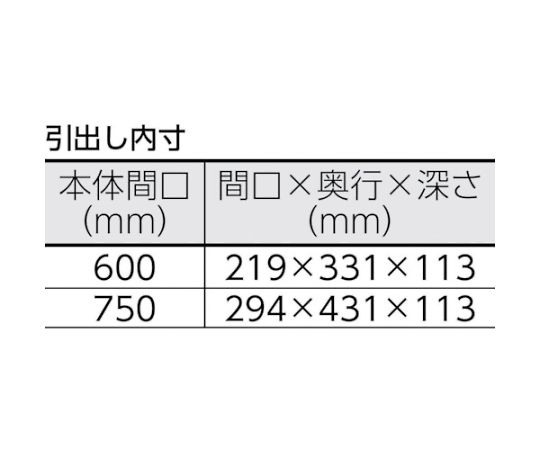 フェニックスワゴン 600X400XH740 2列引出付 YG色 PEW-763W-YG