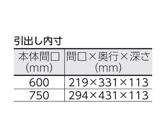 フェニックスワゴン 750X500XH740 引出 天板付 YG色 PEW-772WT-YG