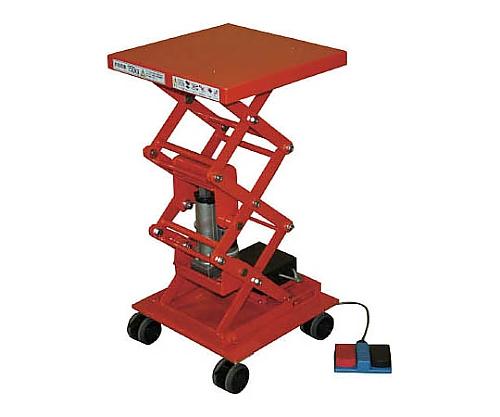 [取扱停止]テーブルリフト 電動Bねじ 化粧板450X450 車輪付 HDCW1044BC