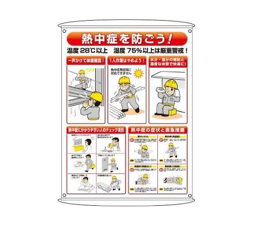 熱中症予防対策集合標識