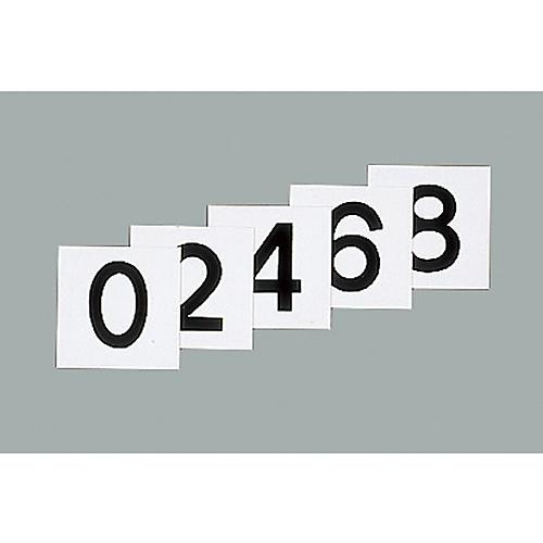 スチールケース用札 KS-B札(2)黒 228023