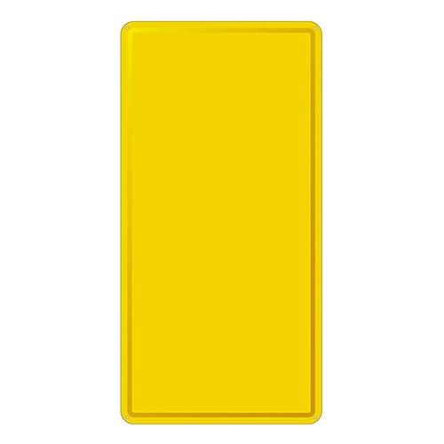 スチール無地板 山型 黄 スチール-17 058172
