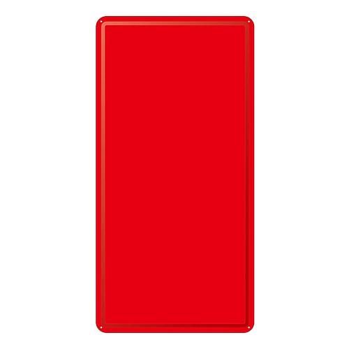 スチール無地板 山型 赤 スチール-17 058173
