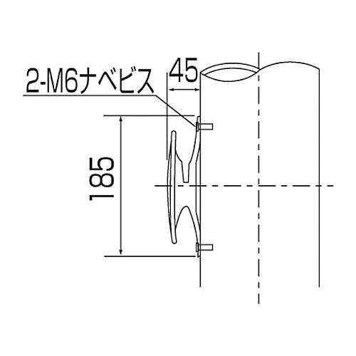 アルミ旗ポール(ロープ付) 埋込108 253004