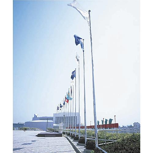 アルミ旗ポール(ロープ付) ベース115 253031