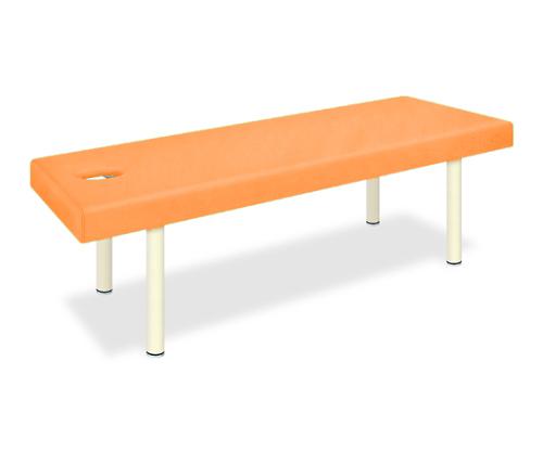 有孔DXマッサージベッド 幅65×長さ190×高さ60cm オレンジ TB-908U