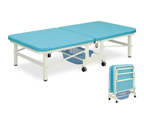 ベンダー訓練ベッド 幅90×長さ180×高さ45cm メディグリーン TB-277