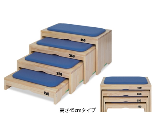 練習用腰掛LX TB-1266 幅70×奥行40×高さ45cm 茶 TB-1266