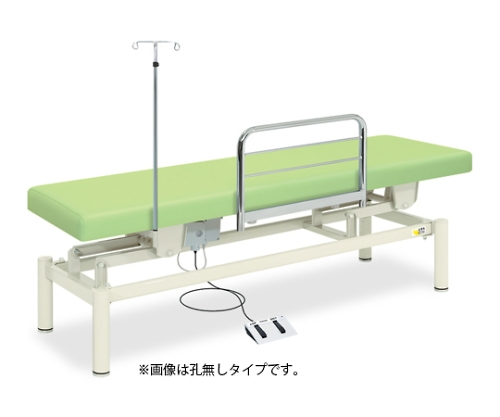 有孔電動ナース TB-1191U 幅60×長さ180×高さ45~83cm ライムグリーン