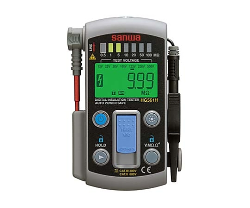 絶縁抵抗計 デジタル/エレベーター保守管理用/小型レンジ式タイプ