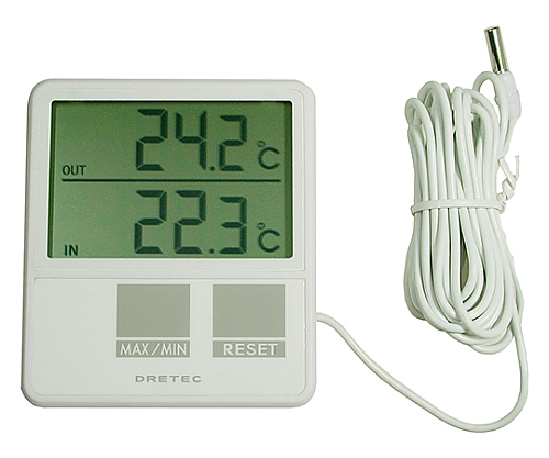 室内室外温度計 O-215WT -5~50℃