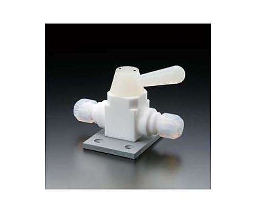フッ素樹脂 二方ボールバルブ接続型ベース付