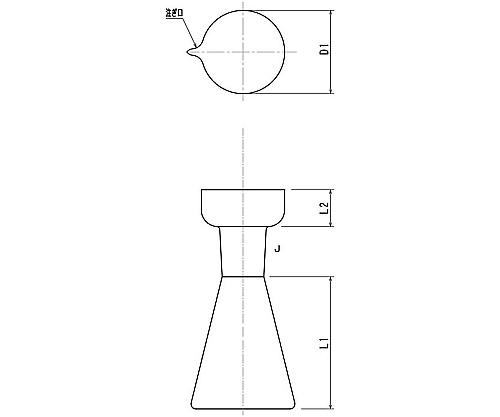 [取扱停止]酸素フラスコ単品(フラスコ) 3256シリーズ
