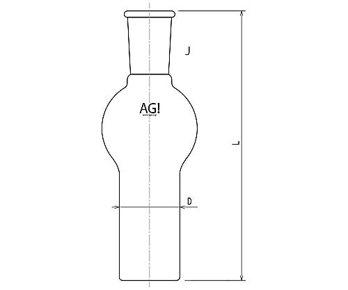 [取扱停止]球付ガス洗浄瓶用瓶