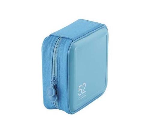 [取扱停止]CD DVDケース セミハード ファスナー付 52枚入 ブルー CCD-H52BU