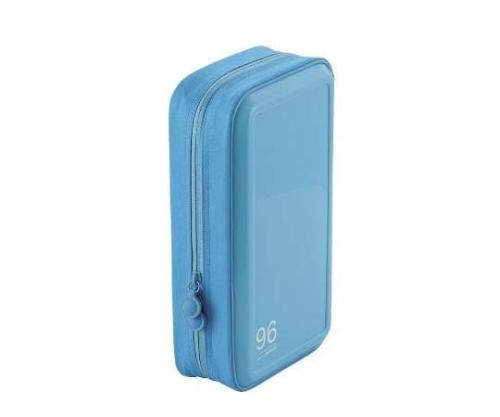 [取扱停止]CD DVDケース セミハード ファスナー付 96枚入 ブルー CCD-H96BU