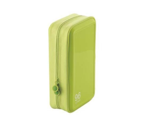 [取扱停止]CD DVDケース セミハード ファスナー付 96枚入 グリーン CCD-H96LGN