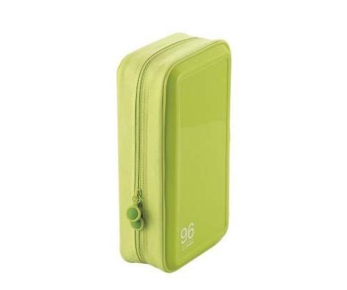 [取扱停止]CD DVDケース セミハード ファスナー付 96枚入 グリーン CCD-H96LGN CCD-H96LGN