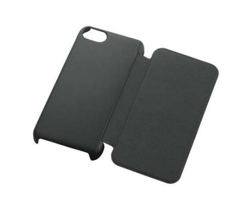 [取扱停止]iPhone2013 シェルカバー フラップ ブラック PS-A13PVFBK