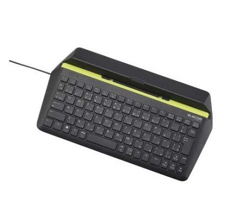 [取扱停止]有線キーボード Windows・Android用 パンタグラフ式 ブラック TK-FCP066BK