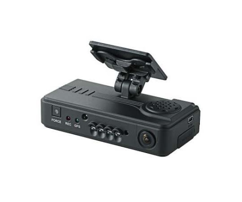 [取扱停止]ドライブレコーダー 2カメ GPS対応 マイク搭載 PCソフト付 管理者権限不要 LVR-SD500GHC