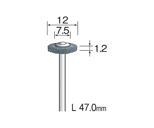 軸付ブラシ スチールワイヤー 10mmΦ (10個) FC5001 等