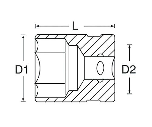 ヘクスローブソケット(E型) 3/8DR