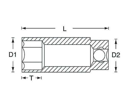ディープソケット 3/8DR 122シリーズ