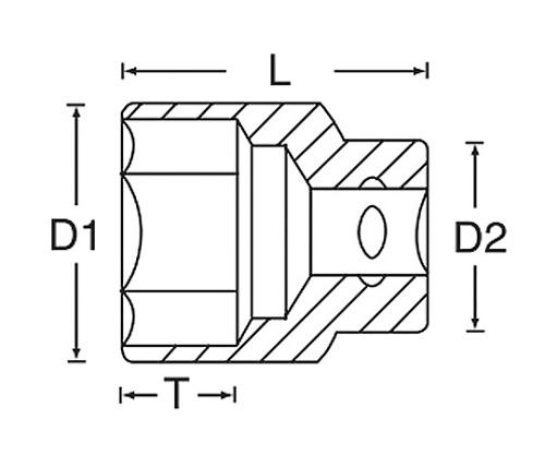 ソケット(6角棒) 1/2DR 133シリーズ
