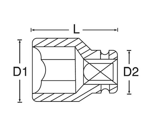 インパクトソケット 3/8DR