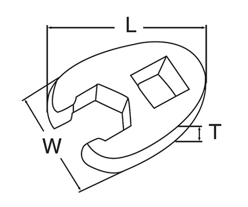 クローフットレンチ 1/2DR 22MM 46422